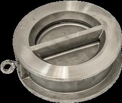 Двудискова възвратна клапа PN16 неръждаема стомана