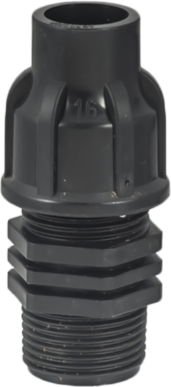 LDPE мъжки адаптор за капково напояване