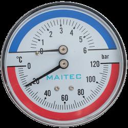 Термометър/манометър-аксиален