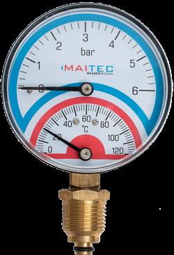 Термометър/манометър-радиален