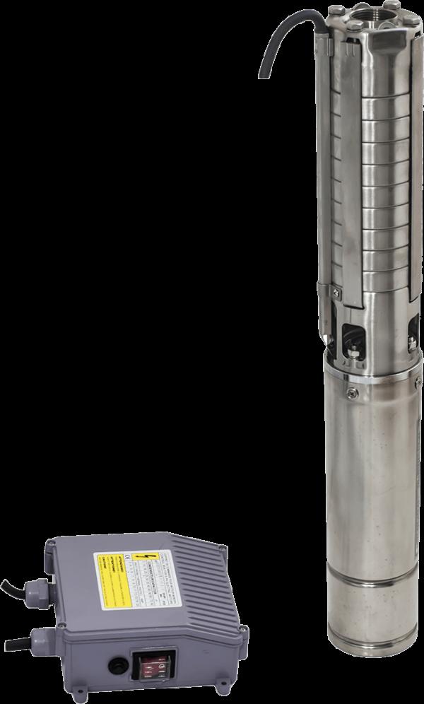Сондажна водна помпа Gmax 4SPD с неръждаема турбина