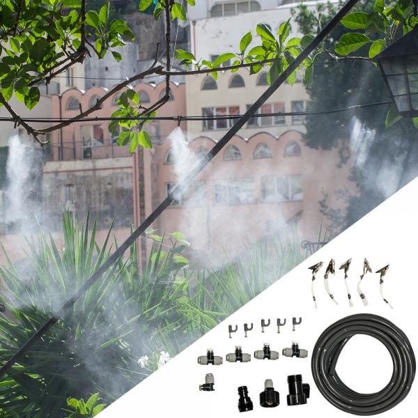 Система за мъглуване - охлаждане с водна мъгла - Hydro-Fit с месингови дюзи