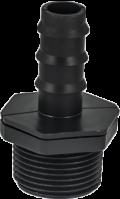 оребрен адаптор за външна резба за многосезонен капков маркуч